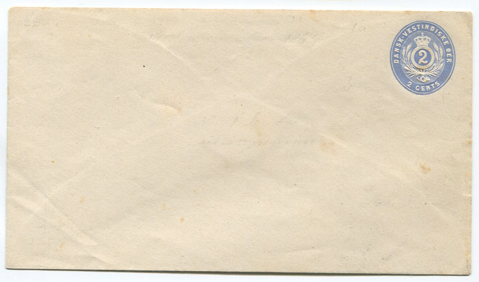 1879 postal stationery 2c ultramarine envelope (bottom flap under side flaps) (Engstrom E1b),