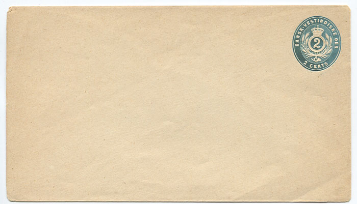 1880 postal stationery 2c blue envelope (bottom flap under side flaps) (Engstrom E1a),