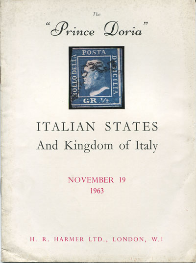 1963 (19 Nov) Prince Doria Italian States and Kingdom of Italy