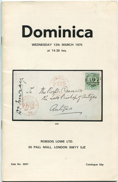 1975 (12 Mar) Nabarro collection of Dominica.