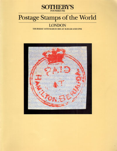 1985 (14 Mar) Postage Stamps of the World
