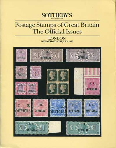 1990 (18 July) Postage stamps of Great Britain. - The Official Issues.