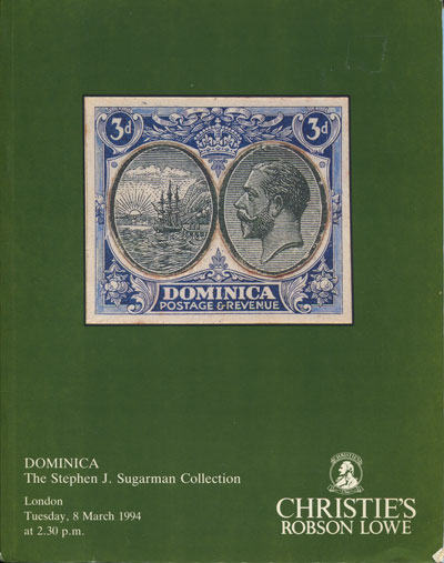 1994 (8 Mar) S.J. Sugarman collection of Dominica.