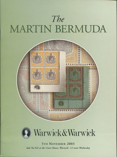 2003 (5 Nov) Esmond B. Martin collection of Bermuda.