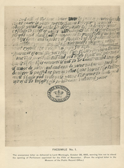 ANON The identification of the writer of the anonymous letter to Lord Monteagle in 1605.