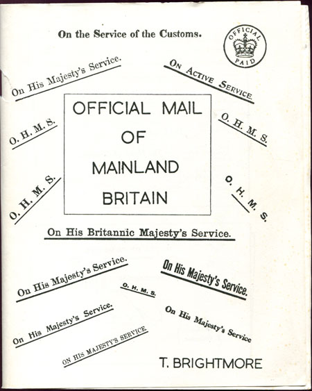 BRIGHTMORE T. Official Mail of Mainland Britain.