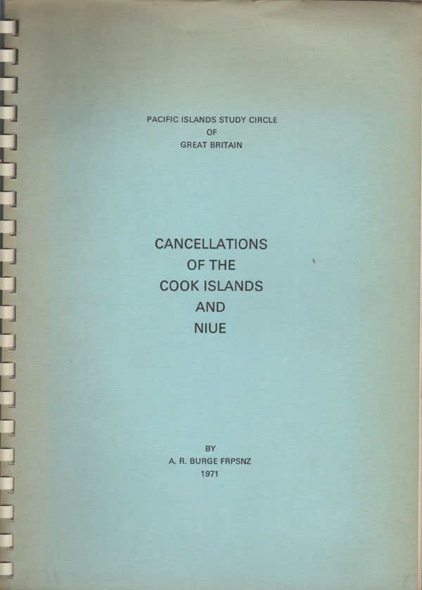 BURGE A.R. Cancellations of the Cook Islands and Niue