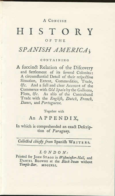 CAMPBELL J. A concise history of Spanish America.