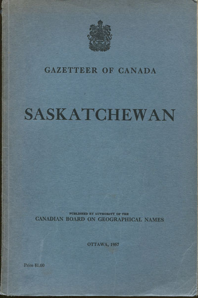 CANADA Gazetteer of Saskatchewan.