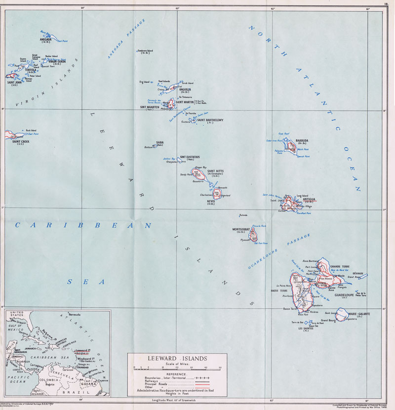 COLONIAL SURVEYS Leeward Islands.