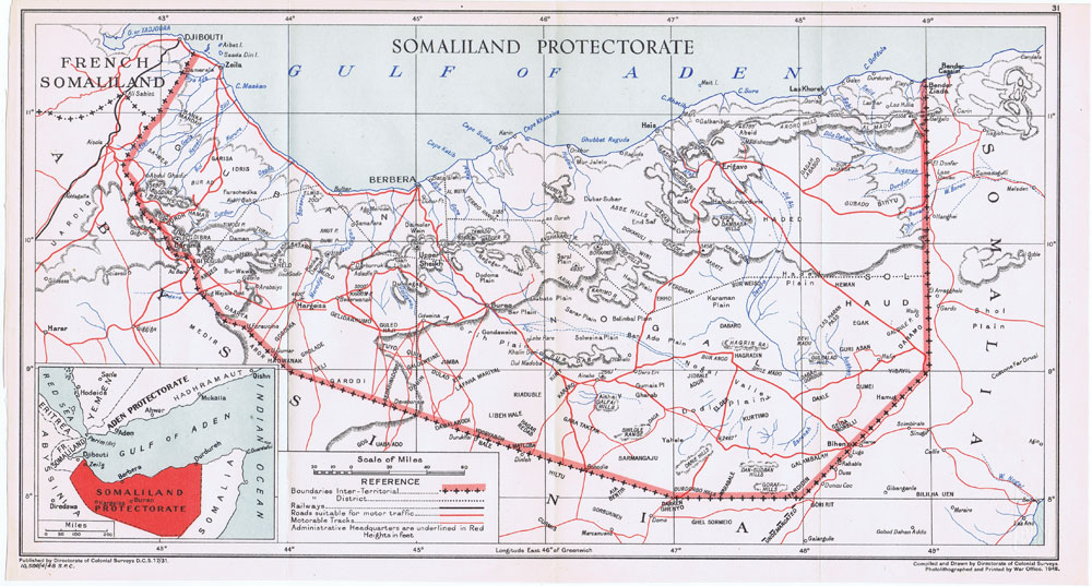 COLONIAL SURVEYS Somaliland Protectorate.