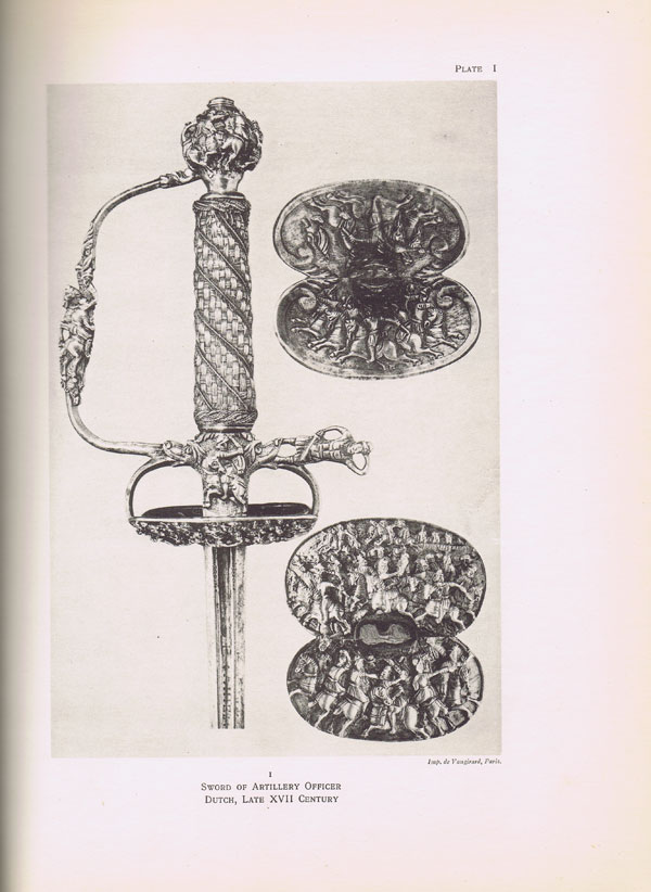 DEAN B. Catalogue of European Court Swords and Hunting Swords. - Including the Ellis, De Dino, Riggs, and Reubell collections.
