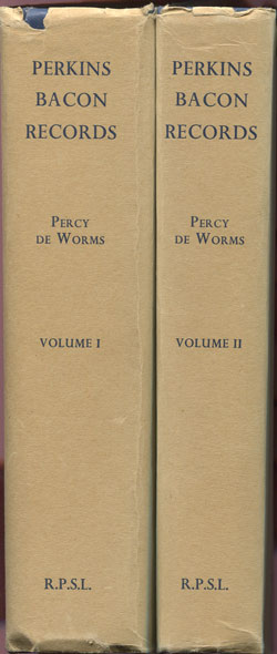 DE WORMS Percy Perkins Bacon Records.