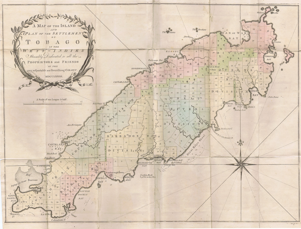 FOWLER John A Summary Account of the Present Flourishing state of the Respectable Colony of Tobago - in the British West Indies.  Illustrated with a map and plan of its settlement, agreeably to the Sales by his Majesty
