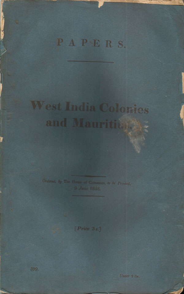 HOUSES OF PARLIAMENT West India colonies and Mauritius. - Copies or extracts of any despatches received by the last two mails relating to the distress prevailing in  the West India colonies and the Mauritius. ..General condition and measures in progress for the promotion of immigration.
