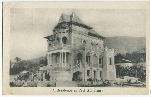 PHOTO-GELATINE PRINTING CO., NEW YORK A residence in Port au Prince.