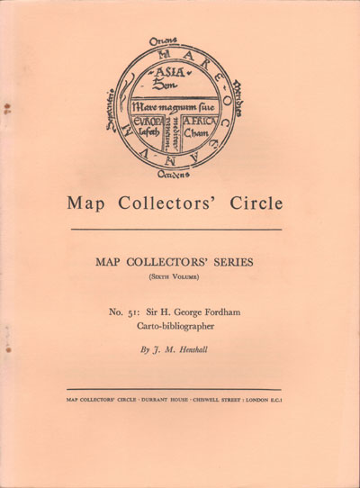 HENSHALL J.M. Map Collectors