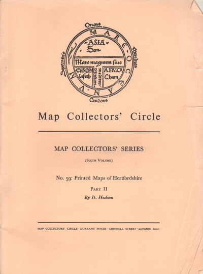 HODSON D. Map Collectors
