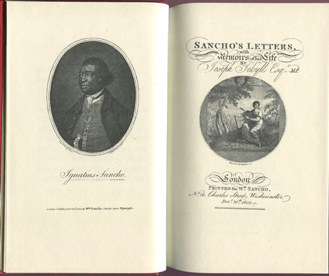 JEKYLL J. Letters of the late Ignatius Sancho. - An African to which are prefixed Memoirs of his life.