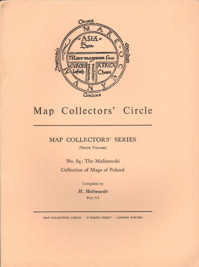 MALINOWSKI H. Map Collectors