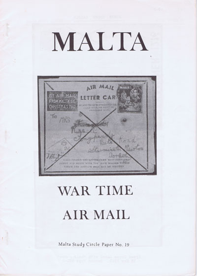 MALTA Malta War Time Airmails