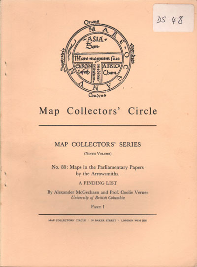 MCGECHAEN A. and VERNER C. Map Collectors