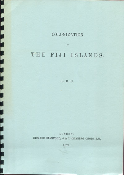 FIJI Colonization in the Fiji Islands.