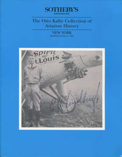 1993 (14 Jun) Otto Kallir collection of Aviation History.