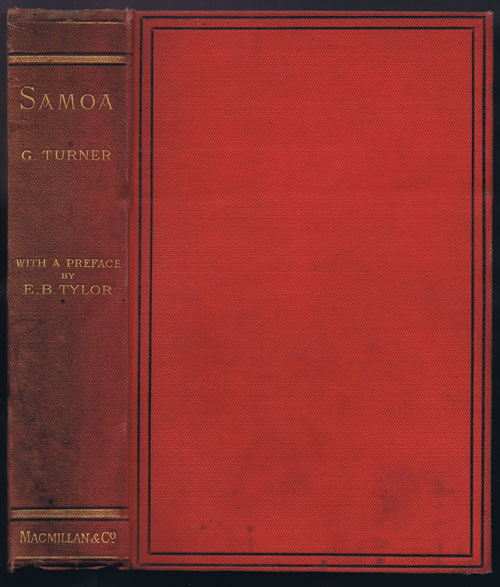TURNER George Samoa: A Hundred Years Ago and Long Before.