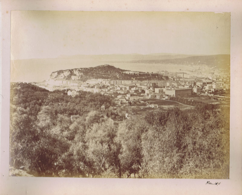 PHOTOGRAPH ALBUM 1870-6 photographs of Cannes, Mentone, Monaco, Monte Carlo and Nice.