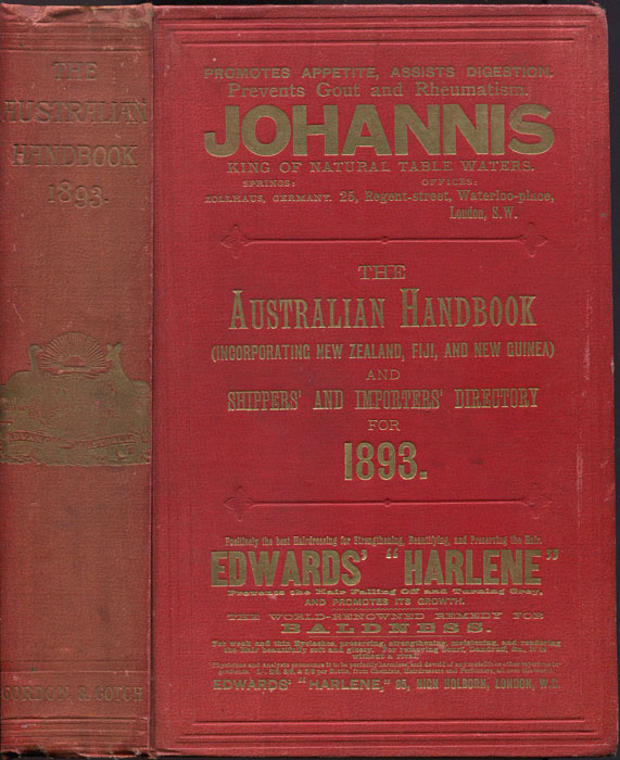 AUSTRALIA The Australian Handbook - (Incorporating New Zealand, Fiji, and New Guinea) Shippers and Importers