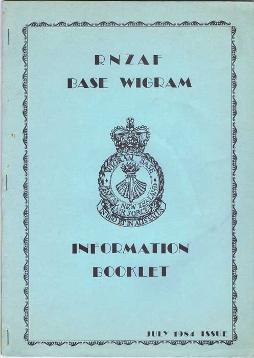 NEW ZEALAND RNZAF Base Wigram Information Booklet
