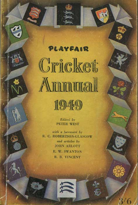 WEST Peter Playfair Cricket Annual 1949
