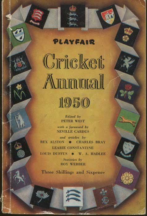 WEST Peter Playfair Cricket Annual 1950