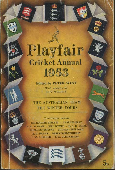 WEST Peter Playfair Cricket Annual 1953