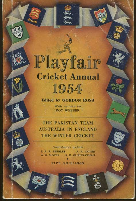 WEST Peter Playfair Cricket Annual 1954