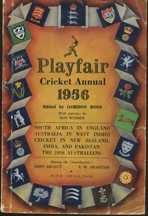 WEST Peter Playfair Cricket Annual 1956