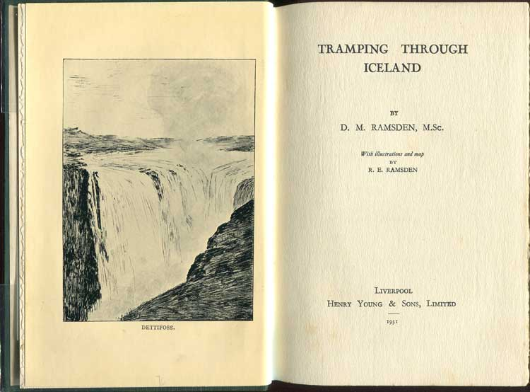 RAMSDEN D.M. Tramping Through Iceland