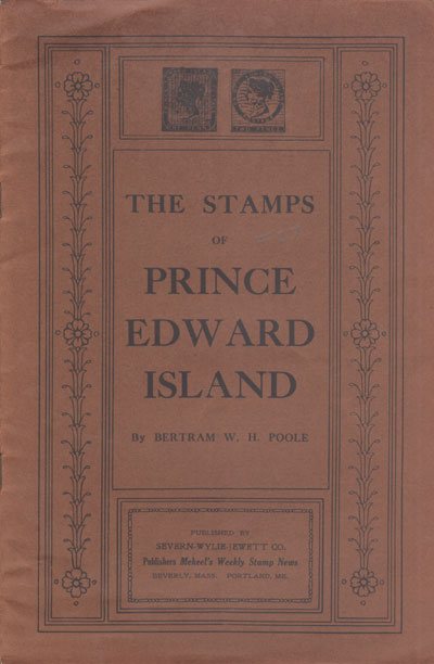 POOLE B.W.H. Postage stamps of Prince Edward Island