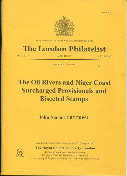 SACHER John The Oil Rivers and Niger Coast Surcharged Provisionals - and Bisected stamps