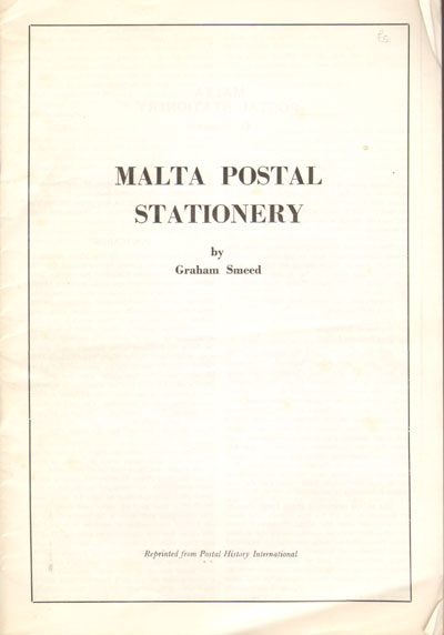 SMEED Graham Malta Postal Stationery