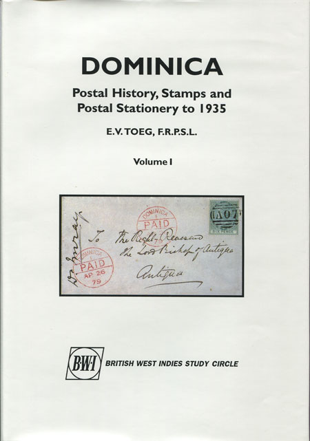 TOEG E.V. Dominica. - Postal history, stamps and postal stationery to 1935.