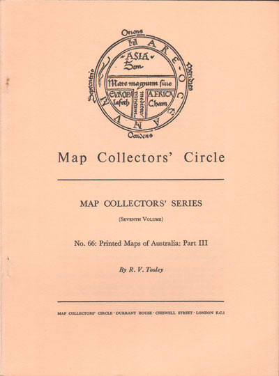 TOOLEY R.V. Map Collectors