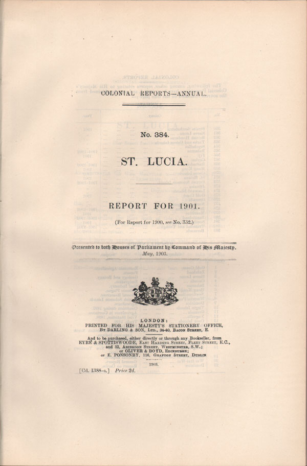 ST LUCIA Report for 1901.