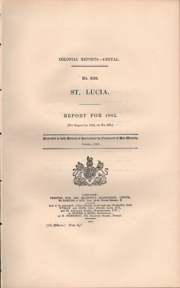 ST LUCIA Report for 1905.