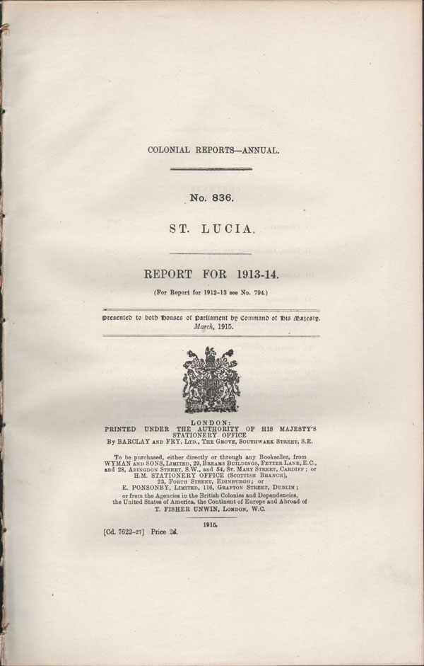 ST LUCIA Report for 1913-14.