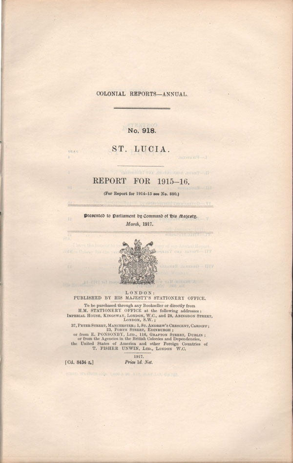 ST LUCIA Report for 1915-16.