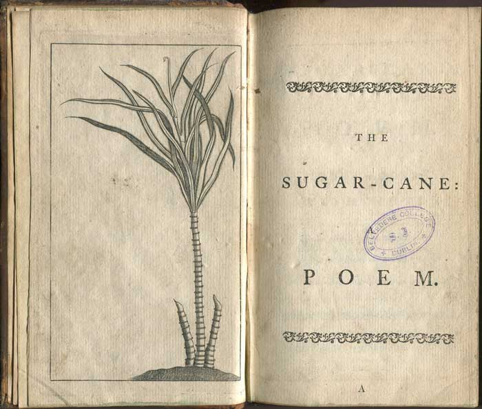 GRAINGER James The Sugar-Cane: A Poem. In Four Books, With Notes.