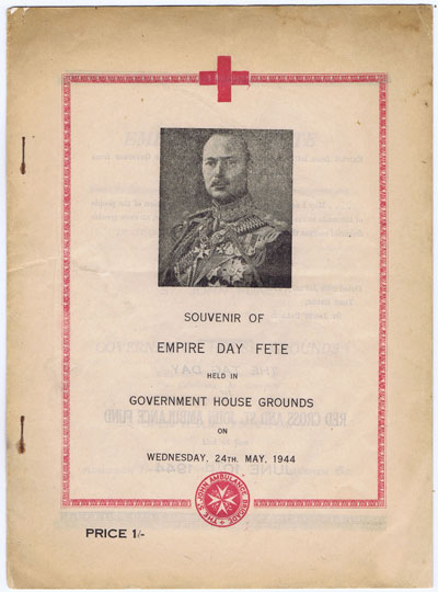 BERMUDA Souvenir of Empire Day Fete held in Government Grounds on Wednesday 24th May 1944.