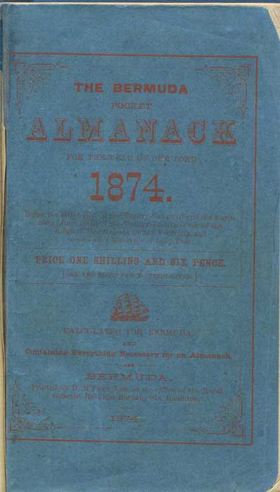 BERMUDA The Bermuda Pocket Almanack for the year of Our Lord 1874